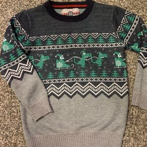 Santa and Dinosaurs Sweater!